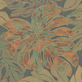 Galerie Jungle Print Green and Copper Wallpaper - Product code: 30434