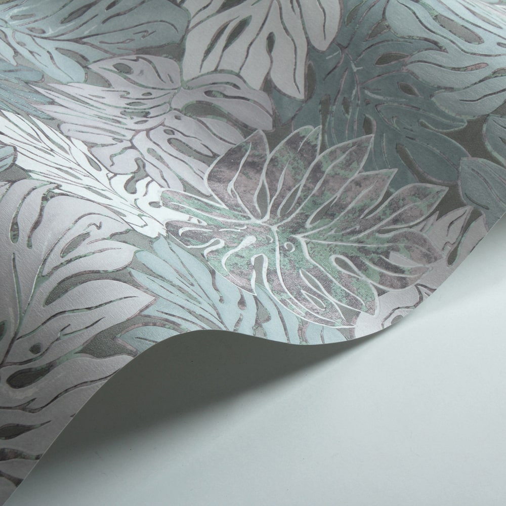 Galerie Jungle Print Aqua and Grey Wallpaper - Product code: 30435