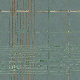 Galerie Plaid Green and Copper Wallpaper