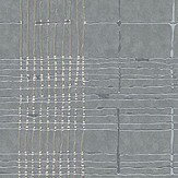 Galerie Plaid Grey and Silver Wallpaper