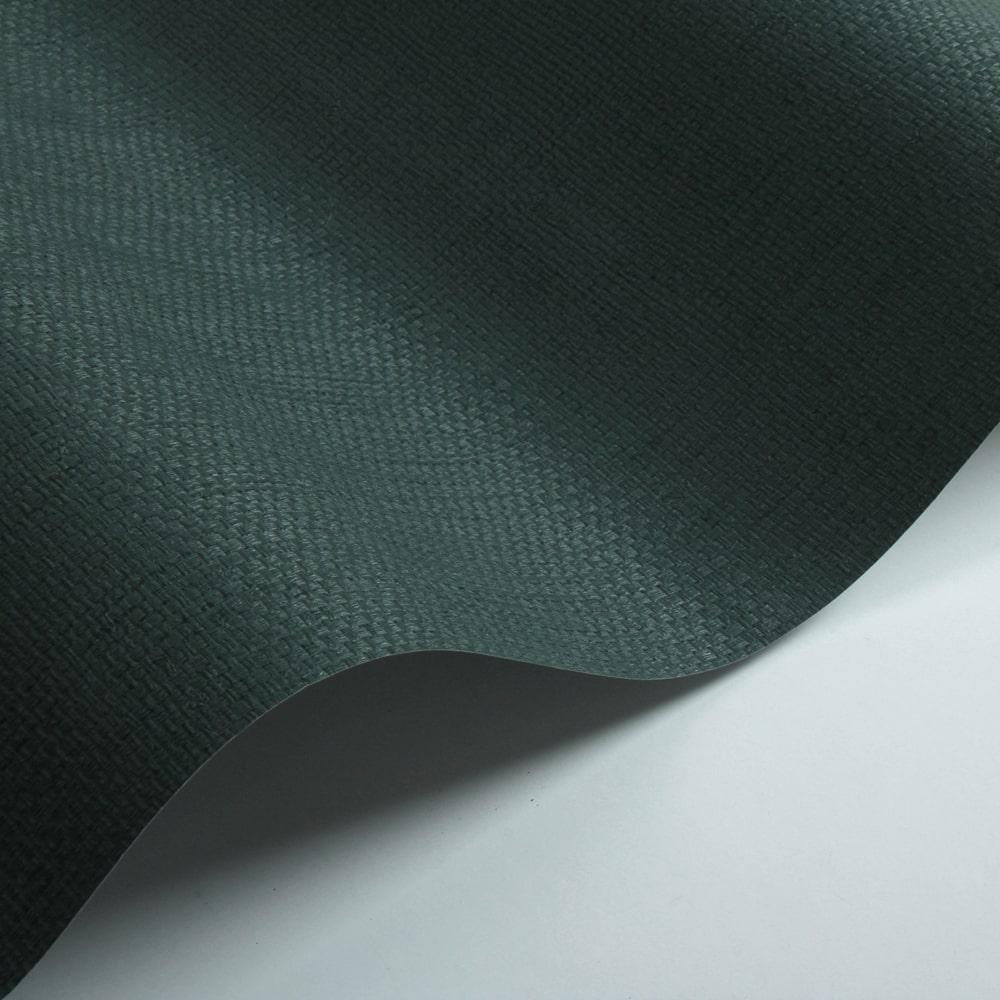 Basket Weave Wallpaper - Green - by Galerie