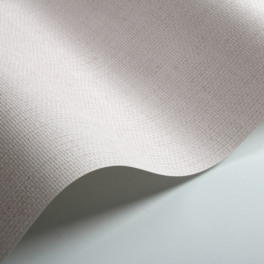 Basket Weave Wallpaper - Pale Pink - by Galerie