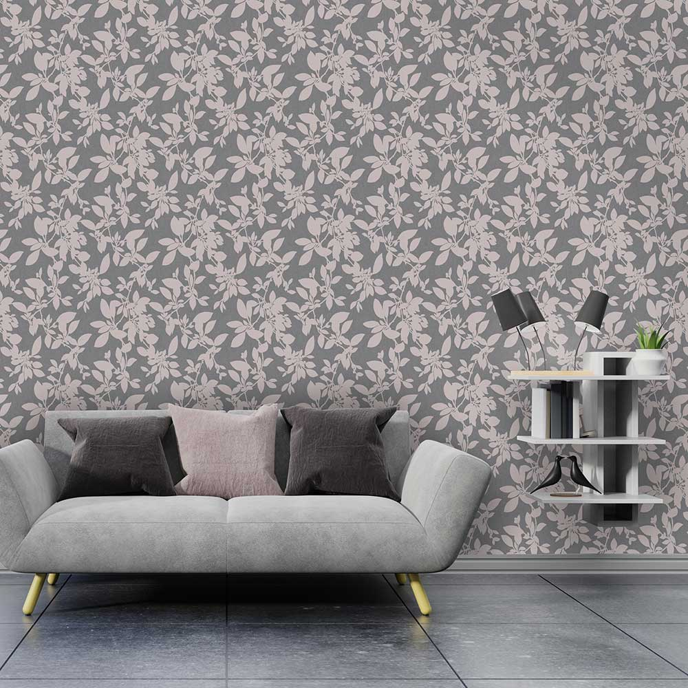 Linden Wallpaper - Charcoal - by Albany