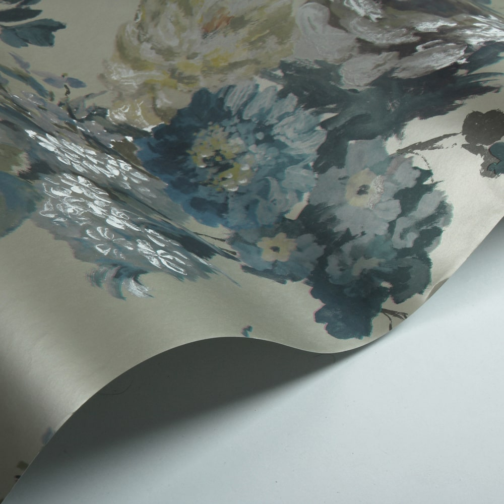 Seraphina Wallpaper - Silver - by Designers Guild