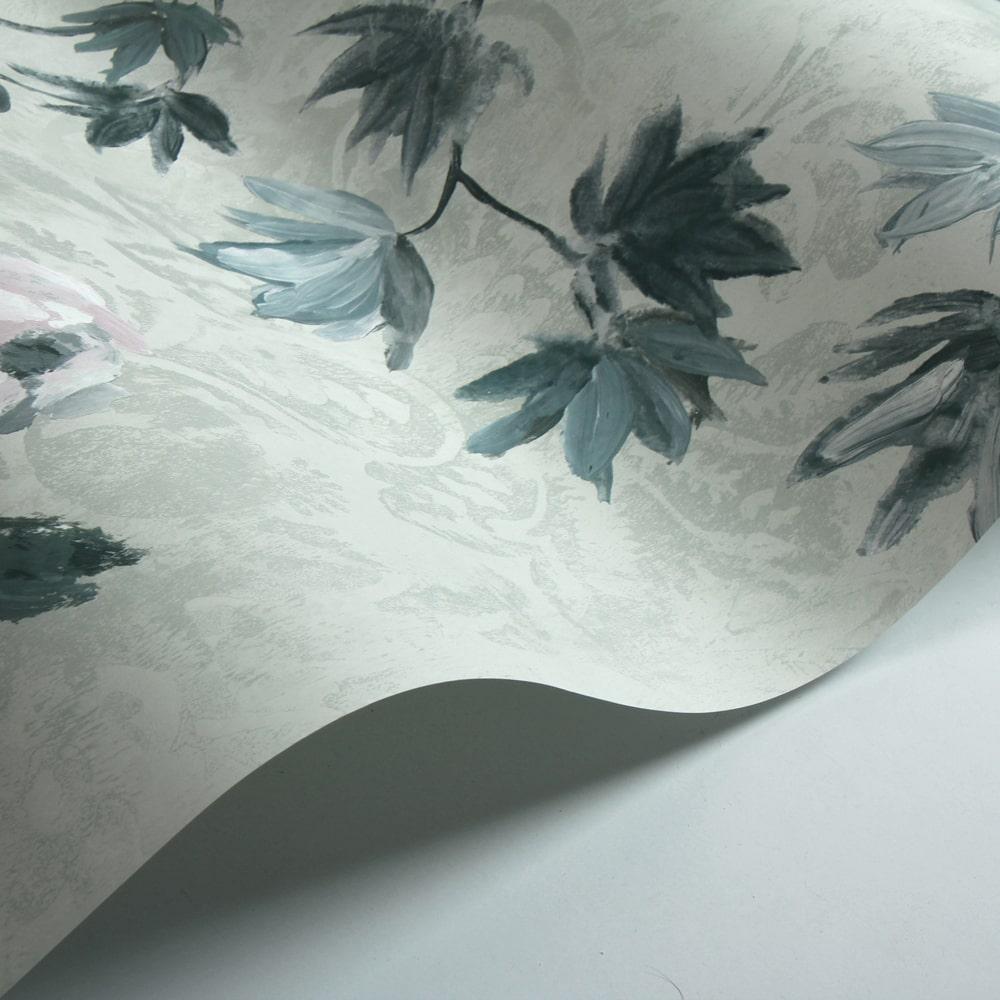 Floreale Wallpaper - Zinc - by Designers Guild