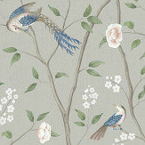 Boråstapeter Paradise Birds Green Wallpaper - Product code: 1903