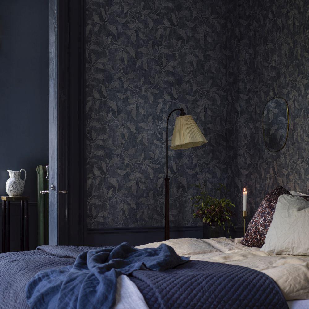 Boråstapeter Rosewood Night Blue & Beige Wallpaper - Product code: 1904