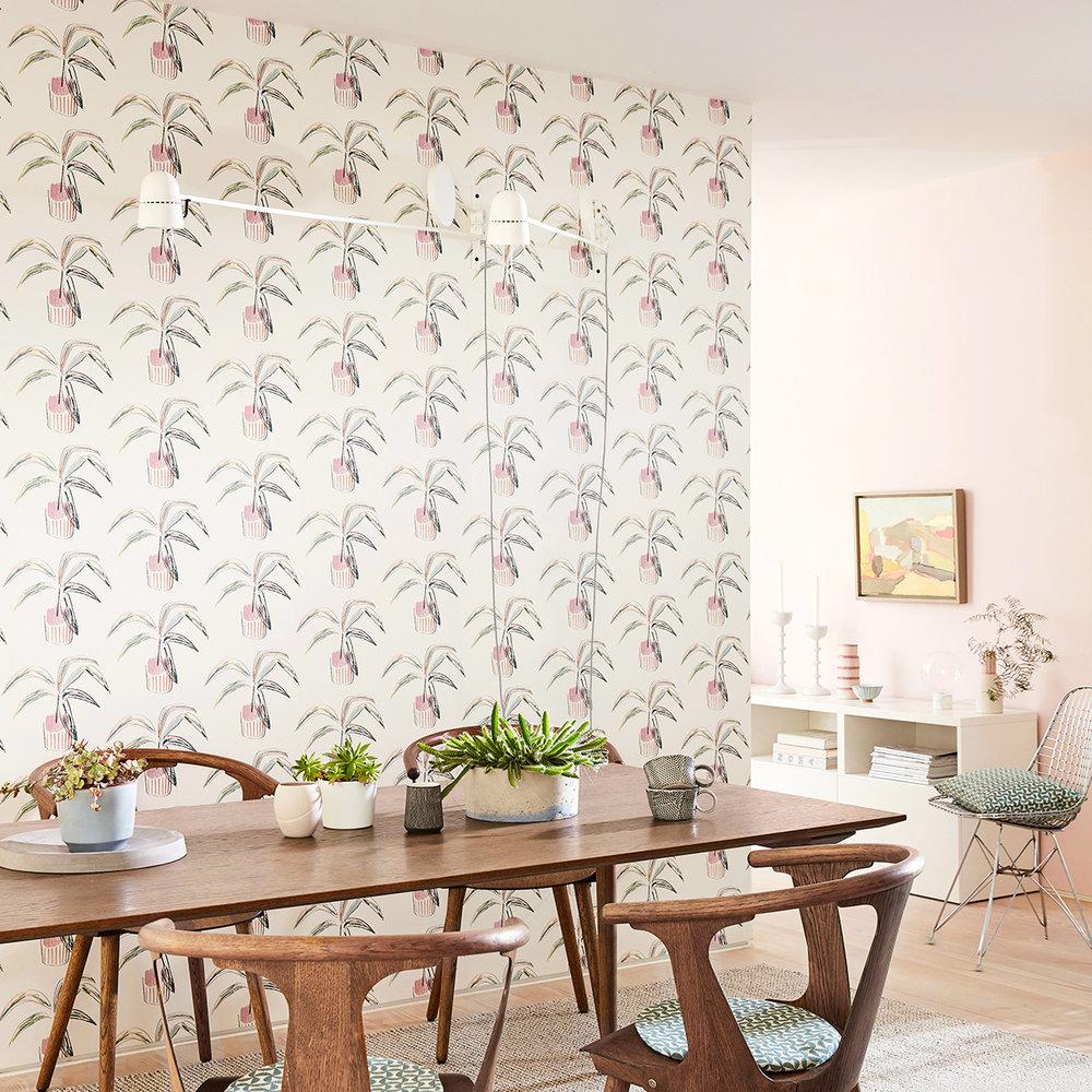 Scion Crassula Blush / Mint Wallpaper - Product code: 111992