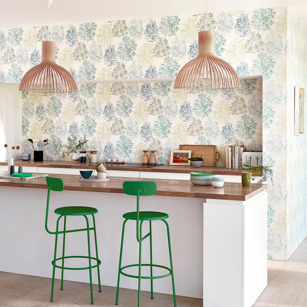 Soetsu Wallpaper - Kiwi / Slate - by Scion