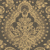 Boråstapeter Boudoir Medallion Black Wallpaper - Product code: 1915