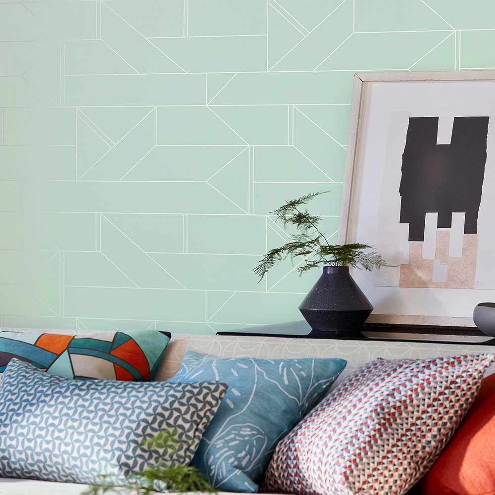 Scion Barbican Mint Wallpaper - Product code: 112013
