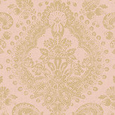 Boråstapeter Boudoir Medallion Pink Wallpaper - Product code: 1917
