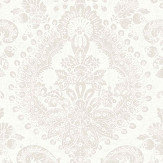 Boråstapeter Boudoir Medallion White Wallpaper - Product code: 1918
