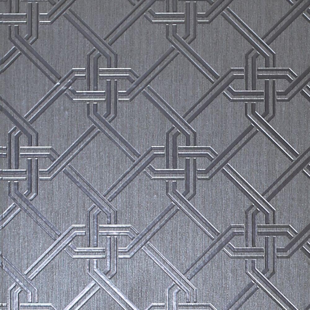 Gianni Foil Wallpaper - Gunmetal / Silver - by Arthouse