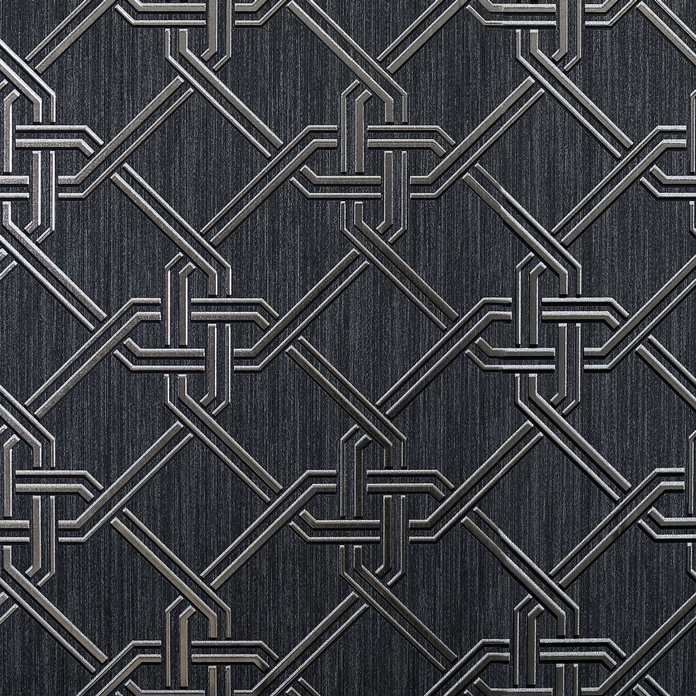Arthouse Gianni Foil Black / Silver Wallpaper - Product code: 903108
