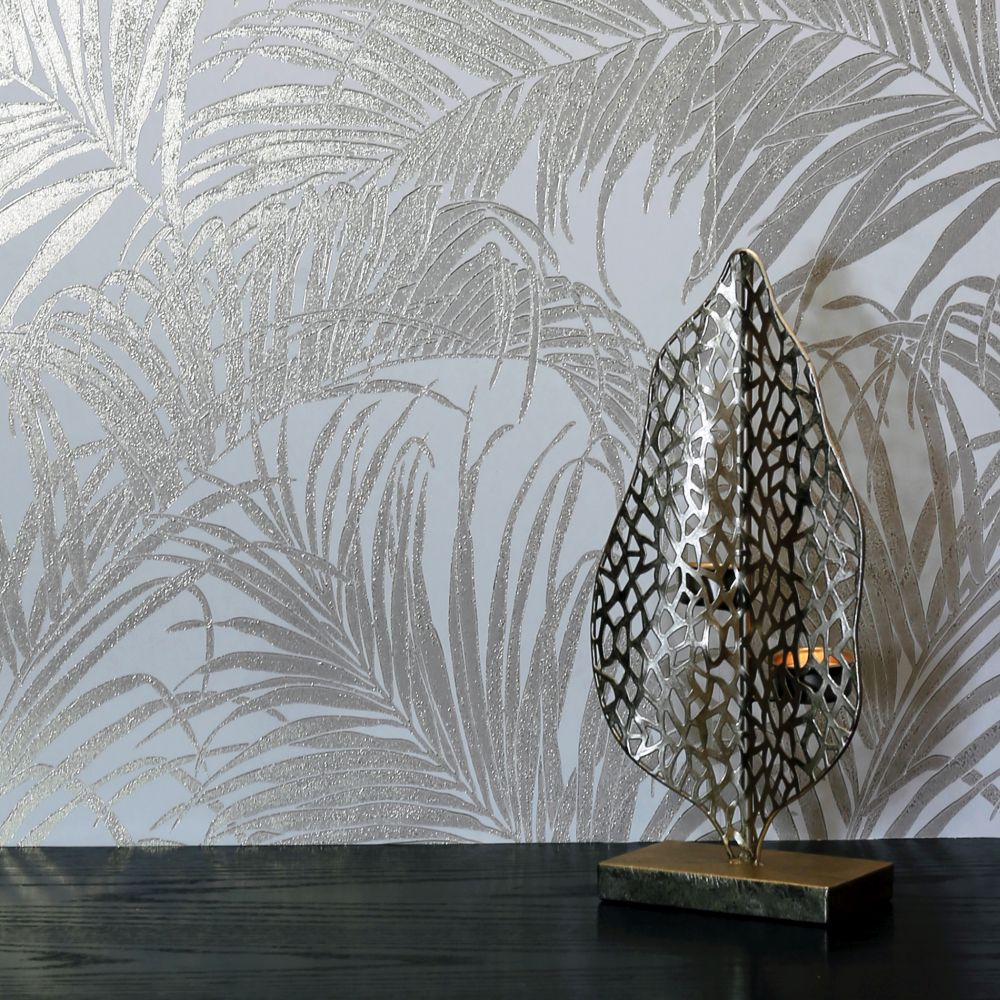 Palm Kiss Foil Wallpaper - Rose Gold - by Arthouse