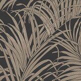 Arthouse Palm Kiss Foil Black / Bronze Wallpaper - Product code: 903202