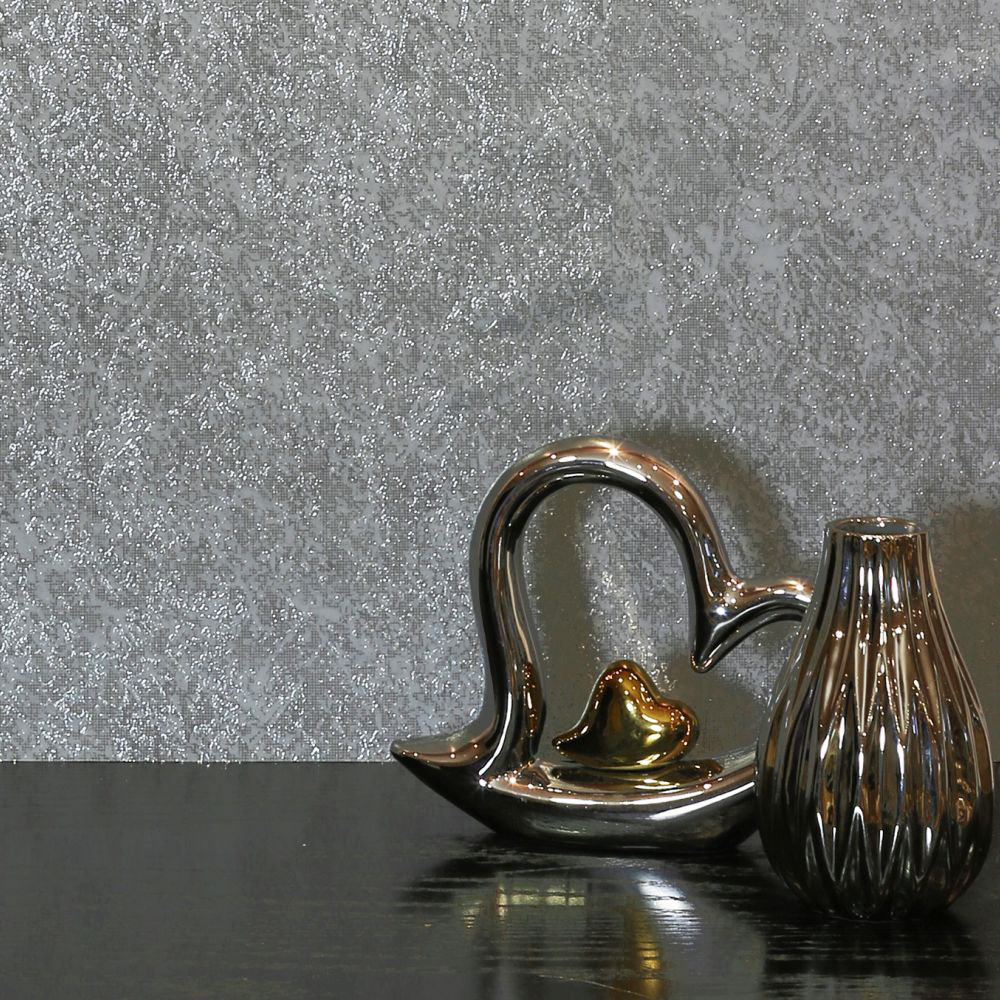 Arthouse Texture Kiss Foil Silver Wallpaper - Product code: 903206