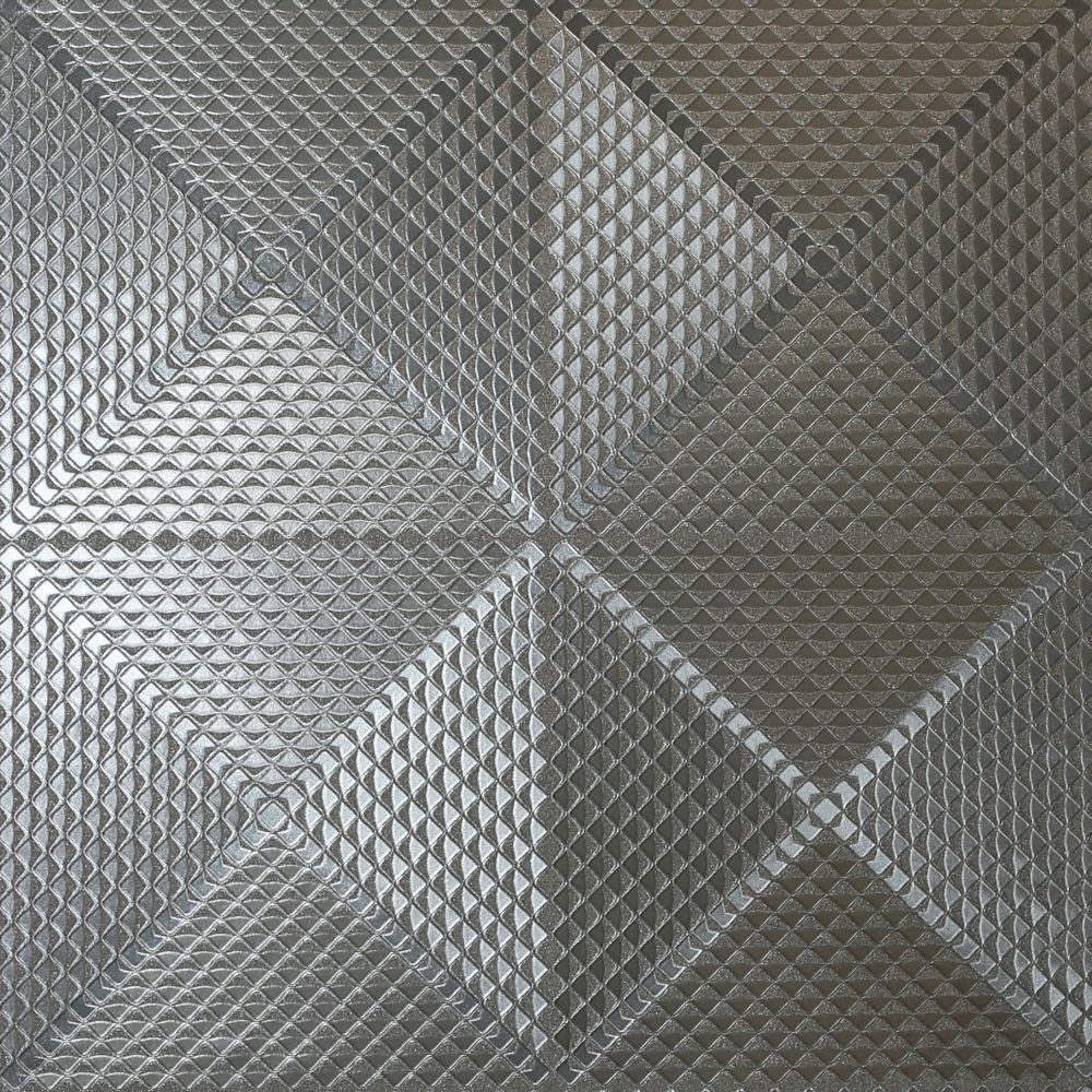 Arthouse Geo Diamond Foil Gunmetal Wallpaper - Product code: 903301