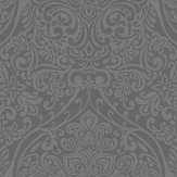 Arthouse Ogee Kiss Foil Charcoal / Silver Wallpaper - Product code: 903309