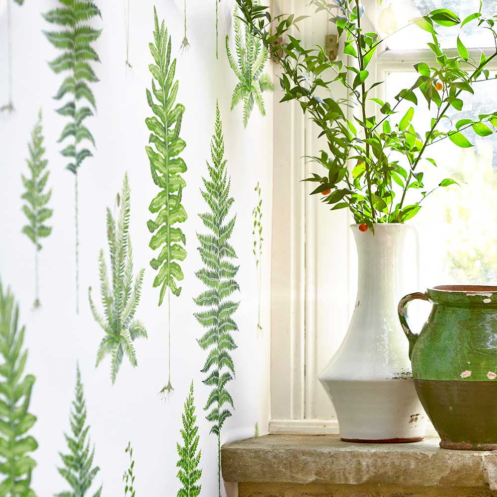 Sanderson Fernery Botanical Green Wallpaper extra image