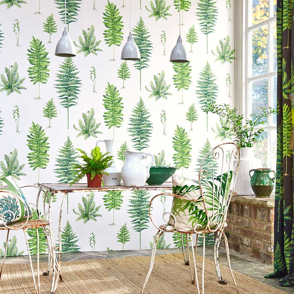 Sanderson Fernery Botanical Green Wallpaper - Product code: 216633
