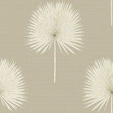 Sanderson Fan Palm Linen / Gilver Wallpaper - Product code: 216637