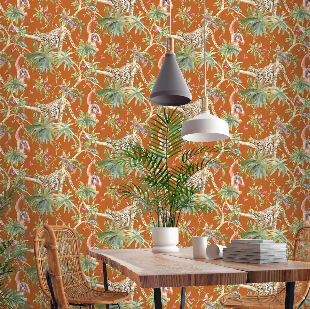Albany Samroze Orange Wallpaper - Product code: 90564