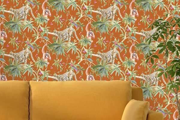 Albany Samroze Orange Wallpaper - Product code: 90564