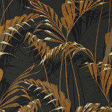 Sanderson Palm House Charcoal / Gold Wallpaper