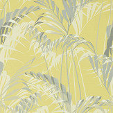 Sanderson Palm House Chartreuse / Grey Wallpaper