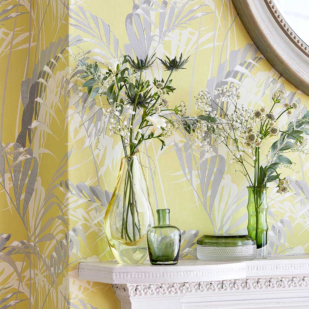 Sanderson Palm House Chartreuse / Grey Wallpaper extra image