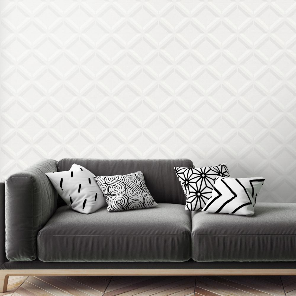 Albany Lana Geo Light Grey Wallpaper - Product code: 90590