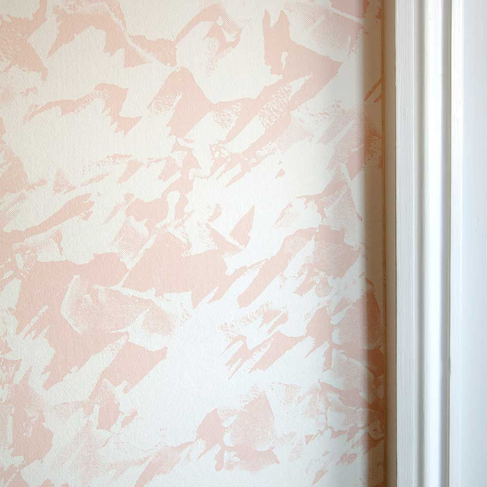 Erica Wakerly Desert Pink / White Wallpaper - Product code: DES007