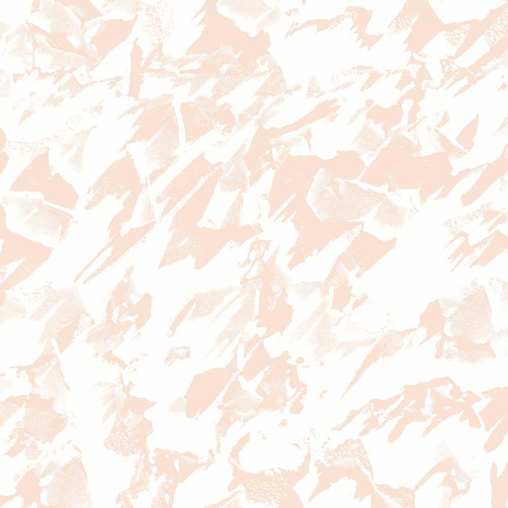 Desert Wallpaper - Pink / White - by Erica Wakerly
