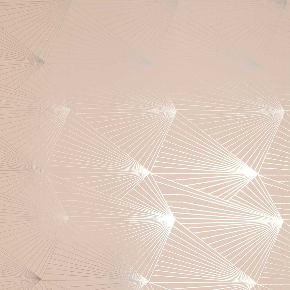 Erica Wakerly Fan  Silver / Nude Wallpaper - Product code: FAN014