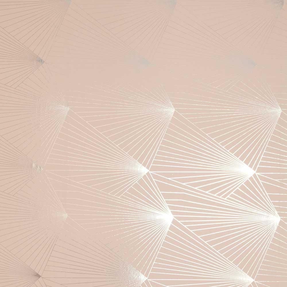 Fan  Wallpaper - Silver / Nude - by Erica Wakerly