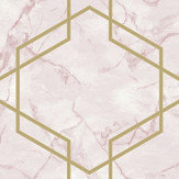 Albany Ventura Pink and Gold Wallpaper - Product code: 90601