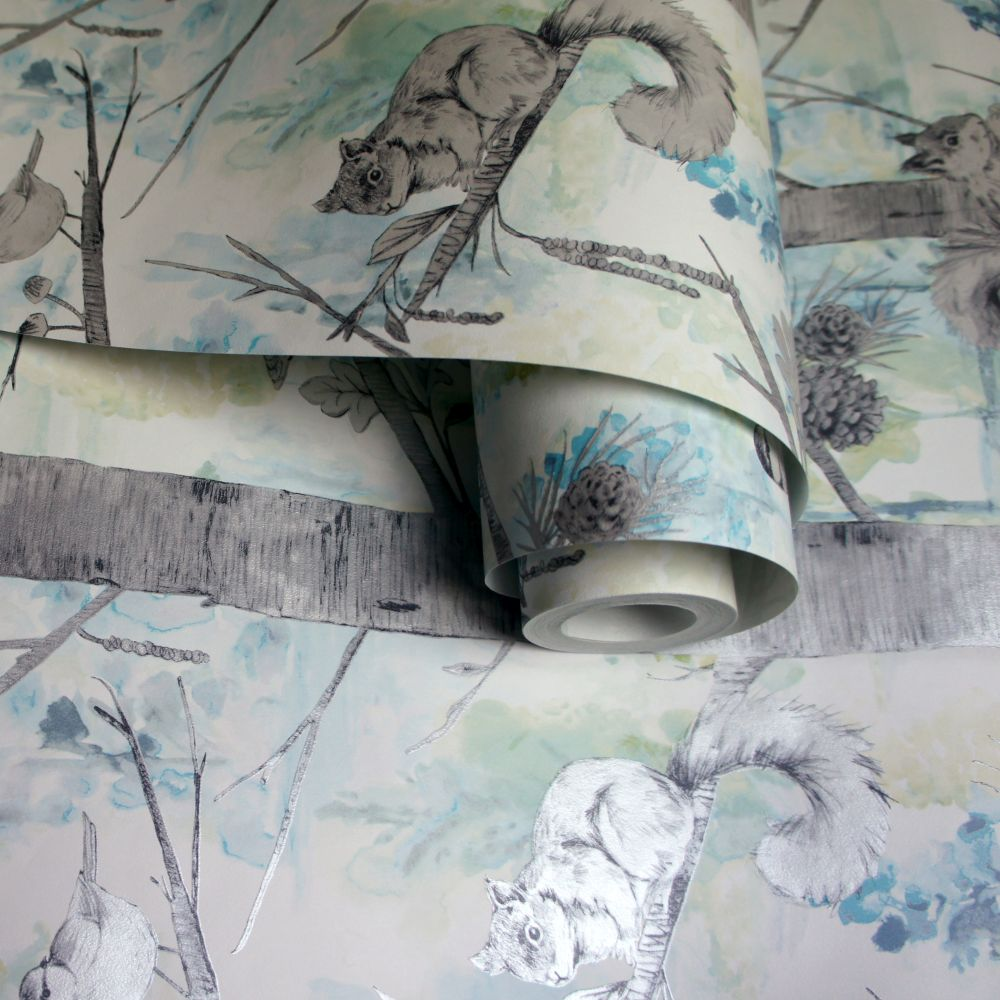 Grizedale Wallpaper - Teal - by Albany