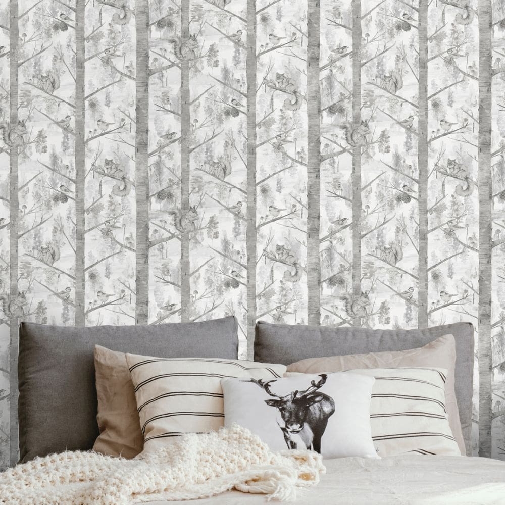 Grizedale Wallpaper - Grey - by Albany