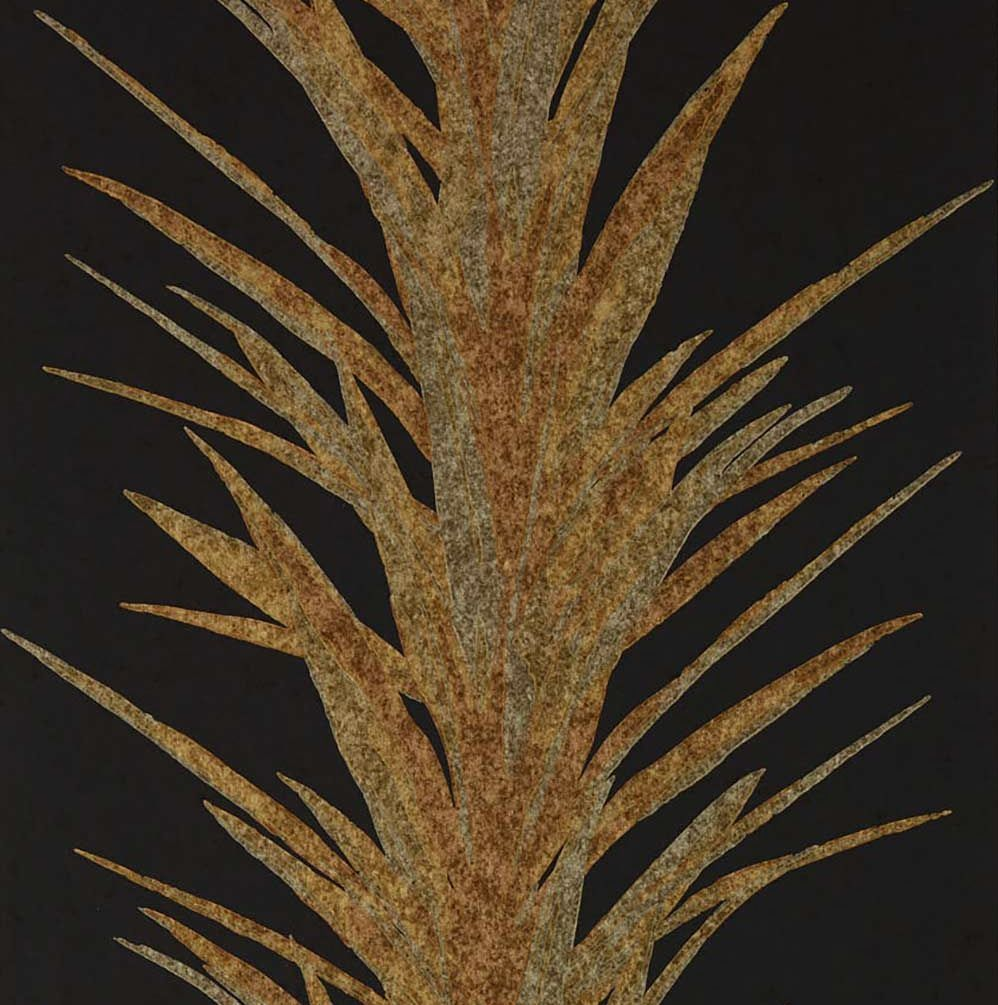 Sanderson Yucca Charcoal / Gold Wallpaper - Product code: 216651