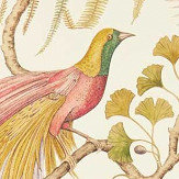 Sanderson Bird of Paradise Olive Wallpaper
