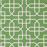 Sanderson Hampton Trellis Botanical Green Wallpaper