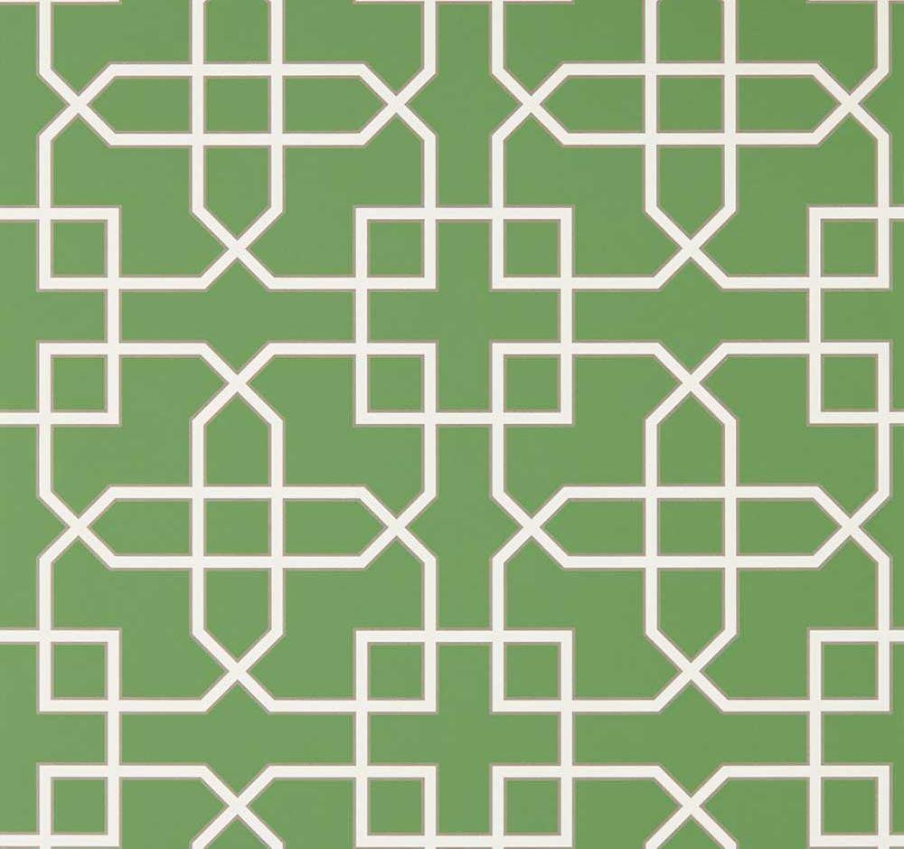 Sanderson Hampton Trellis Botanical Green Wallpaper - Product code: 216660