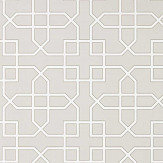 Sanderson Hampton Trellis Grey Wallpaper