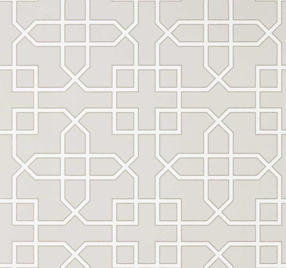 Sanderson Hampton Trellis Grey Wallpaper main image