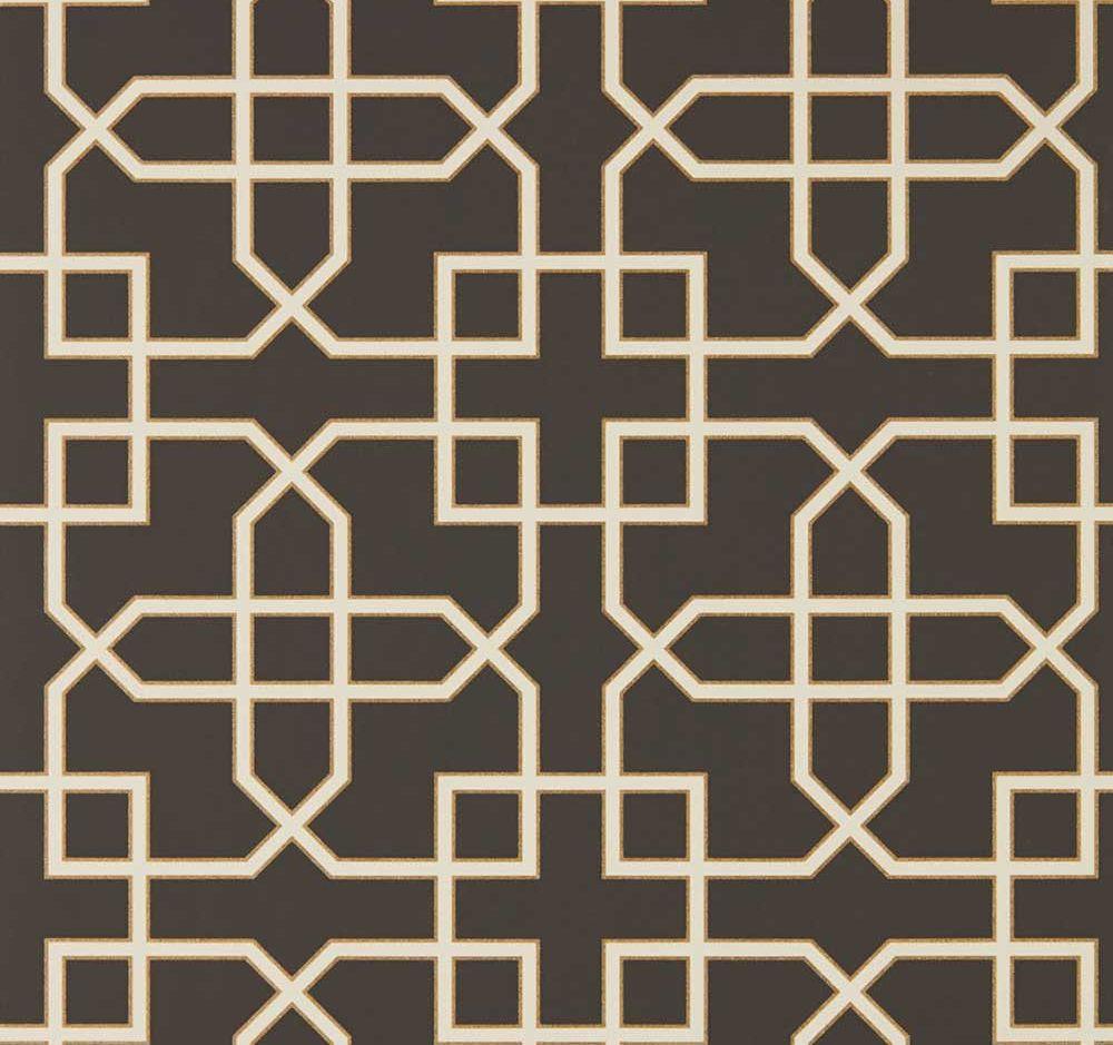 Sanderson Hampton Trellis Charcoal Wallpaper - Product code: 216662