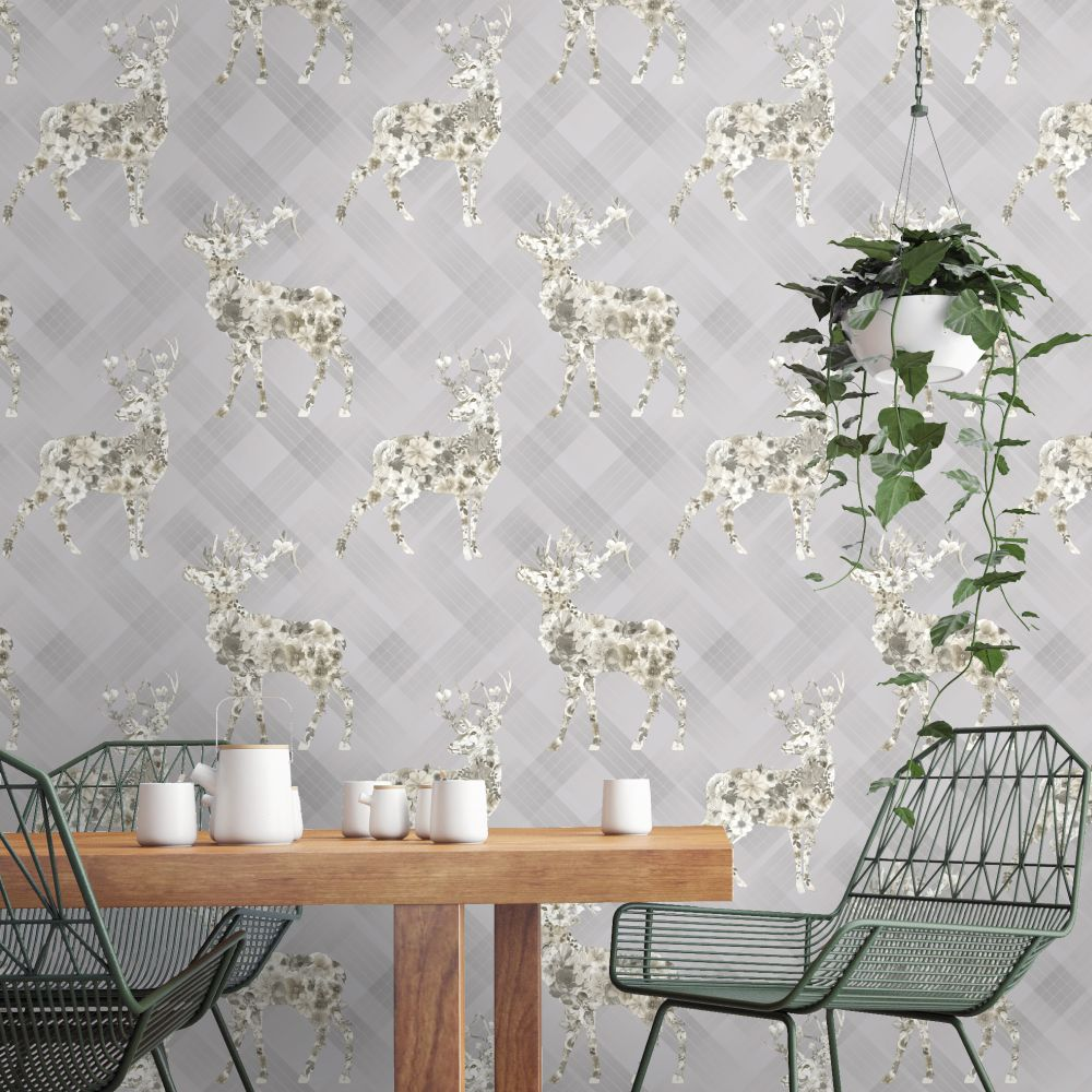 Albany Calla Grey Beige Wallpaper - Product code: 90620