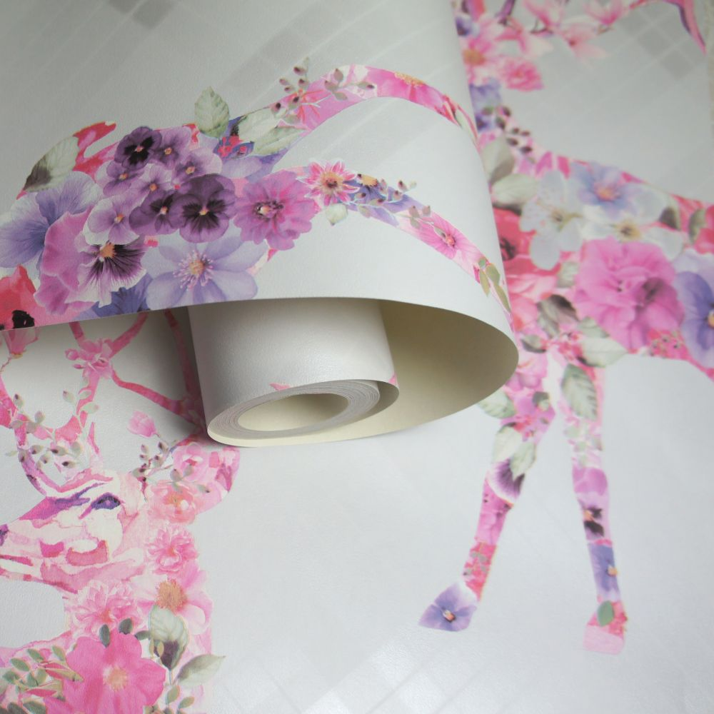 Albany Calla Dove Grey and Pink Wallpaper - Product code: 90623