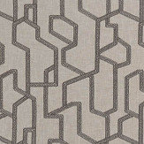 Clarke & Clarke Labyrinth Charcoal Fabric